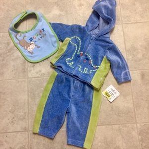 Little me boy infant three month Valore sweatsuit